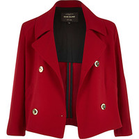 River Island Womens Dark red cropped jacket