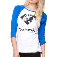 Diamond Supply Co Diamond Raglan T-Shirt - Womens Tee - White
