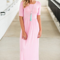 On The Lookout Maxi Dress, Pink