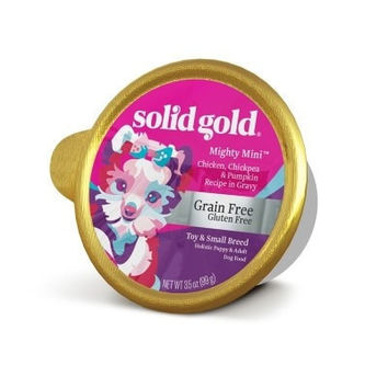 SOLID GOLD DOG WET - MIGHTY MINI GRAIN FREE DOG CHICKEN - 12/3.5OZ - SOLID GOLD - UPC: 93766322032 - DEPT: OTHER PET FOODS