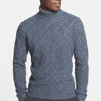 Men's Canali Regular Fit Virgin Wool Turtleneck Sweater