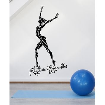 Vinyl Wall Decal Rhythmic Gymnastics Olympic Games Sport Girl Stickers (3345ig)