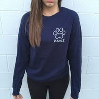 Long Sleeve True Navy Blue Tribal White Print