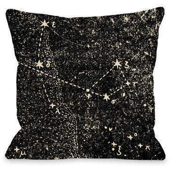 """""""Vintage Constellations"""" Outdoor Throw Pillow by OneBellaCasa, 16""""x16"""""""