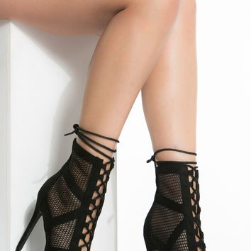 Black Mesh Peep Toe Lace Up Booties @ Cicihot. Booties spell style, so if you want to show what you're made of, pick up a pair. Have fun experimenting with all we have to offer!