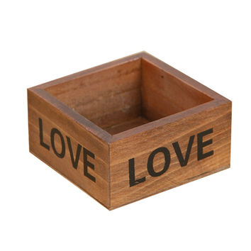 Rustic Natural Wooden Succulent Plant Flower Bed Pot Box Garden Planter Home Storage Box Wooden Jewelry Holder wonderful gift