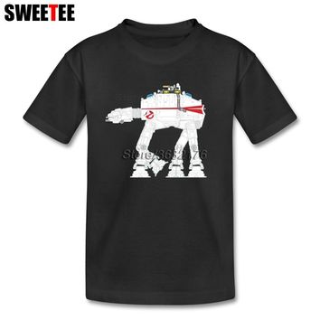 Ghostbusters AT-AT Star Wars Girl's T Shirt 100% Cotton Short Sleeve Round Neck Costume Teens Latest T-shirt For Boys Girls