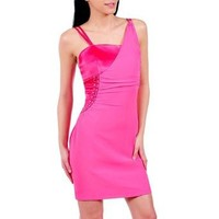 Luxury Divas Sexy Fuchsia Hot Pink Cocktail Dress With Jewels