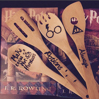 Harry Potter Wood Burned Spoons