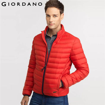 Men Downs Jacket Mockneck Puffer Jackets Solid Winter Clothing Outerwears 90% Down Parka Casual