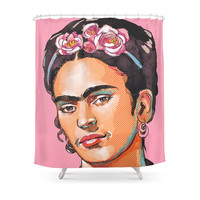 Society6 Frida Kahlo - Feminist Icon Shower Curtains