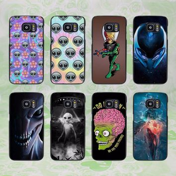 Alien Tumblr Quotes flower design hard black phone Case Cover for samsung galaxy s8 s8 plus s7 s6 edge j3 j5 2016 j7 2016