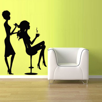 rvz913 Wall Vinyl Sticker Decals Decor Bedroom Haircut Scull Boy Salon Hair Style Stylist Fashion Girls
