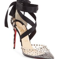 Christian Louboutin Mechante Reine Ankle Wrap Pump (Women) | Nordstrom