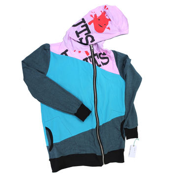 Holly Hue x I Heart Guts Hoodie - Women's Large - Blue + Pink