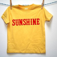 Toddler and Baby Yellow and Red Sunshine Tshirt