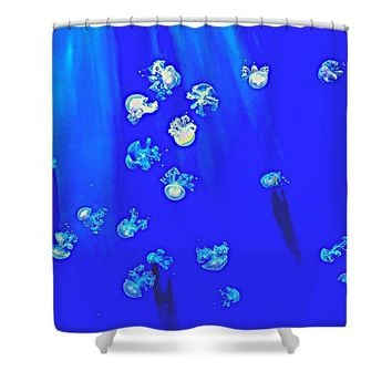 Pack Of Jelly Fish 2 - Shower Curtain