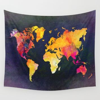 World map 8 Wall Tapestry by jbjart