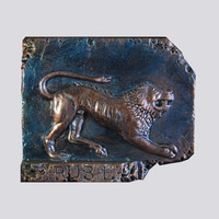 Etruscan Lion Stone Sculpture Gift for Him, Italian Home Decor Italy Antiquities, Ancient Wall Sculpture Lion Wall Plaque, Italy Art