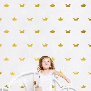 vinyl decorativos queen Crown stickers adhesivos para pared baby wall sticker bedroom decoration for kids