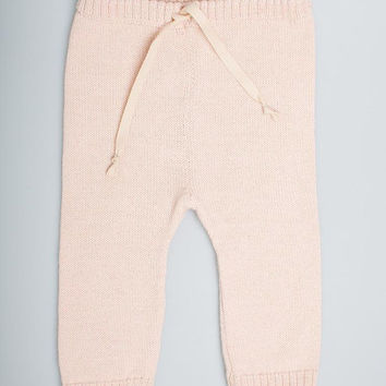 5b11c5b8248 Drawstring pants   baby alpaca wool leggings for babies and toddlers  pale  rose pants for