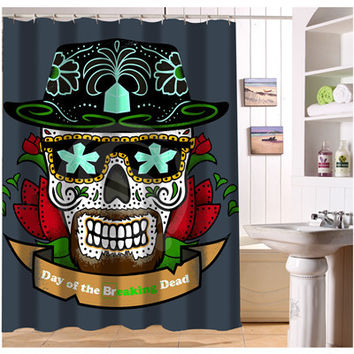 W522#62 Custom Cool Pirate And Skull r1 Modern Shower Curtain bathroom Waterproof  Free Shipping  #fj62