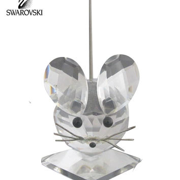 Swarovski Clear Crystal Figurine LARGE MOUSE Spring Cold Tail #7631 NR 040 000