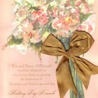 BRIDAL SHOWER INVITATIONS, BLUSH BOUQUET, ODD BALLS NEW!