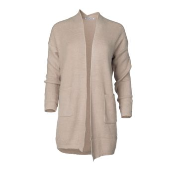 Brickell - Womens Oversized Open Front Knit Long Cardigan Sweater With Pockets