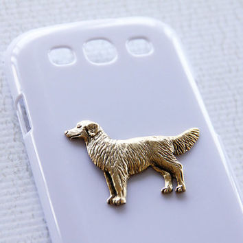 Golden Retriever White High Shine S3 Samsung Galaxy Gold Plated Smartphone Case iPhone 6 Plus Case