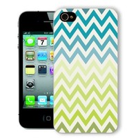 ChiChiC Iphone Case, i phone 4 4g 4s case,Iphone4 iphone4g iphone4s covers, plastic cases back cover skin protector,geometric turquoise green chevron