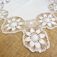 lace doily table topper vintage shabby chic white lace doiley doilies