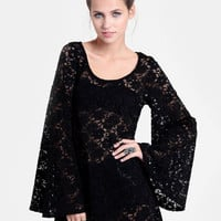 Enigma Bell Sleeve Lace Dress - $42.00 : ThreadSence, Women's Indie & Bohemian Clothing, Dresses, & Accessories