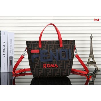 FENDI Hot Sale Fashionable Women Shopping Bag Handbag Tote Shoulder Bag Crossbody Satchel Red