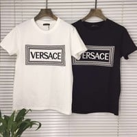 Versace Womens Fashion Cotton Short sleeve T-shirt