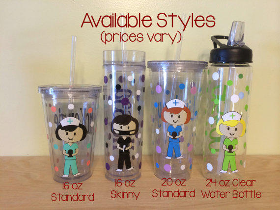 Personalized with name acrylic tumbler or from DeLaDesign ...