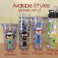Personalized with name acrylic tumbler or water bottle - Cute Nurse, RN, or Dental hygienist, Graduation gift, Nurse appreciation day