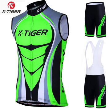 X-Tiger Quick Dry Cycling Vest Summer Sleeveless MTB Bike Clothing Ropa Maillot Ciclismo Racing Bicycle Jersey Cycling Clothes