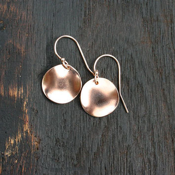 MAY SPECIAL - rose gold filled wavy disc earring Add these earrings to your cart when you order 100 dollars of jewelry