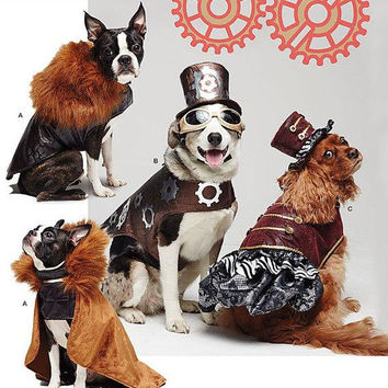 Dog Costume Pattern / Simplicity 1031 (Small Medium Large) Clothes / Steampunk Costume / Cape / Headgear / New Uncut Sewing Pattern