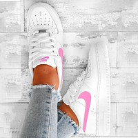 Nike air force 1 Multicolor selection Fashion Shoes Trending Sneakers Pink