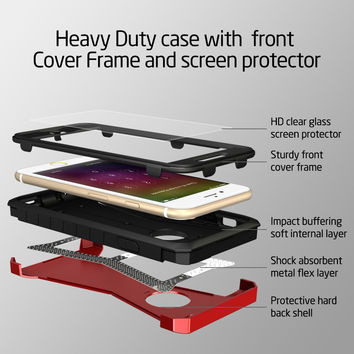 ESR Soft TPU Detachable Sturdy Front Cover Glass Screen Heavy Duty Armor case for iPhone 6/6s 4.7""