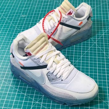 Off White X Nike Air Max 90 Ice White Sport Running Shoes - Best Online Sale