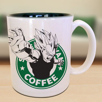 Vegeta Dragon Ball Z Starbucks Anime Manga Japanese Cartoon Art Inspired Geek Nerd Gamer Mug