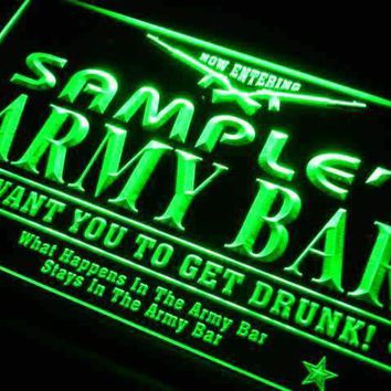 Personalized Army Bar Neon Sign (LED)