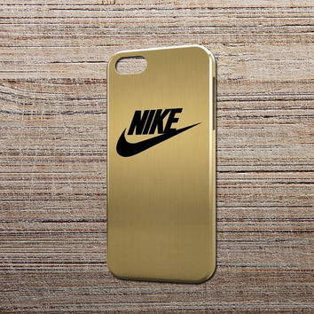 gold pattern nike logo design for all device