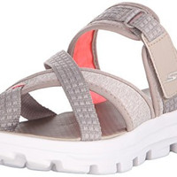 Skechers Performance Womens Go Walk Move-Relax Sandal, Taupe, 10 M US