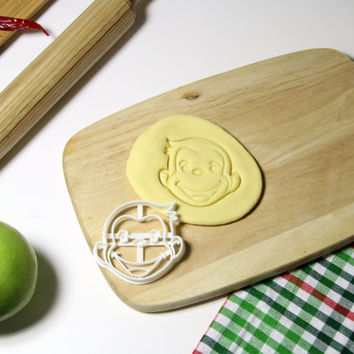 Curious George Cookie Cutter Cupcake topper Fondant Gingerbread Cutters - Made from Eco Friendly Material
