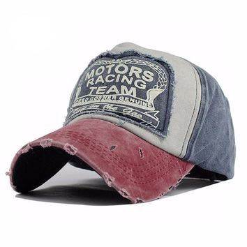 Weathered Adjustable Snap Back Baseball Cap