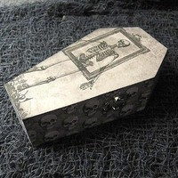 Skeleton Coffin Wood Coffin Box